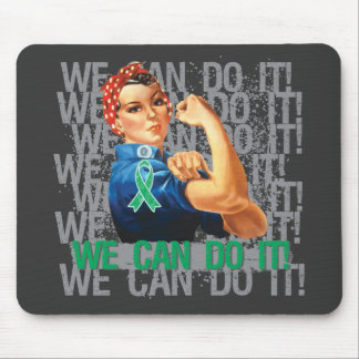 Liver Cancer Rosie WE CAN DO IT Mousepads