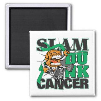 Liver Cancer - Slam Dunk Cancer Refrigerator Magnet