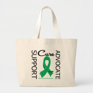 Liver Cancer Support Advocate Cure Tote Bags