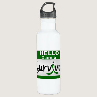 Liver Cancer Survivor 24.png Stainless Steel Water Bottle