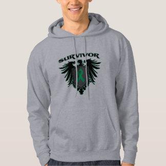 Liver Cancer Survivor Crest Hooded Sweatshirt