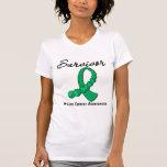 Liver Cancer Survivor Gemstone Ribbon Tees