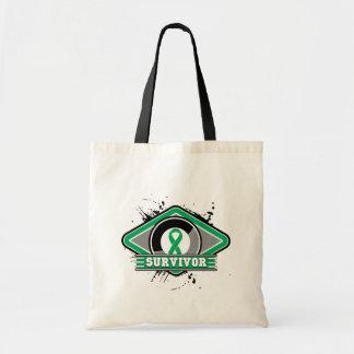 Liver Cancer Survivor Grunge Logo Bag
