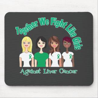 Liver Cancer Together We Fight Like Girls Mouse Pad