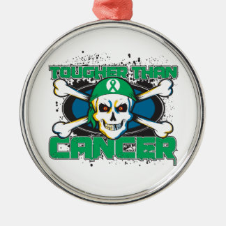 Liver Cancer Tougher Than Cancer Skull Christmas Ornaments