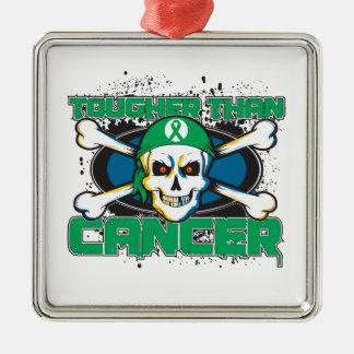 Liver Cancer Tougher Than Cancer Skull Christmas Tree Ornament