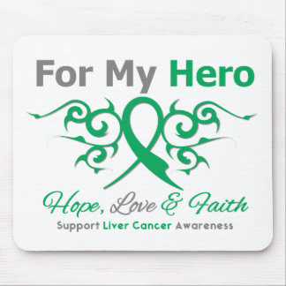Liver Cancer Tribal Ribbon Hero Mouse Pad