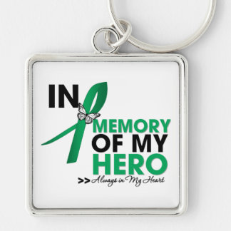 Liver Cancer Tribute In Memory of My Hero Key Chains