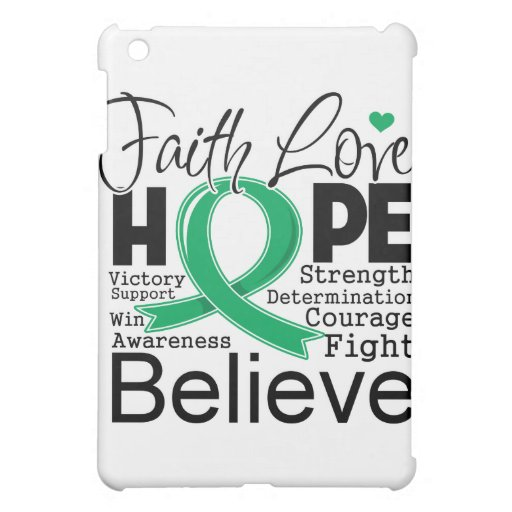 Liver Cancer Typographic Faith Love Hope Case For The iPad Mini