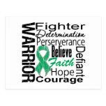 Liver Cancer Warrior Collage Postcard