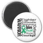 Liver Cancer Warrior Collage Refrigerator Magnets