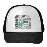 Liver Cancer Warrior Collage Trucker Hat