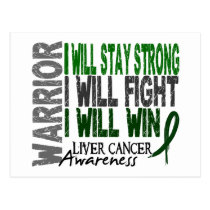 Liver Cancer Warrior Postcard