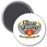 Liver Cancer Wings Magnet