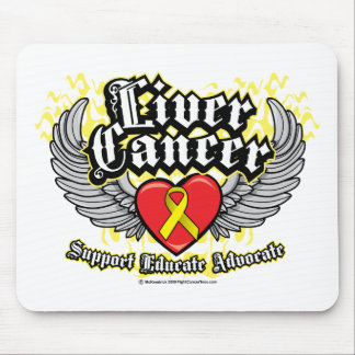 Liver Cancer Wings Mouse Pad