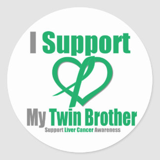 Liver CancerI Support My Twin Brother Stickers