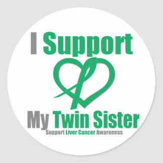 Liver CancerI Support My Twin Sister Stickers