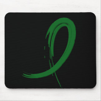Liver Cancer's Emerald Green Ribbon A4 Mouse Pad