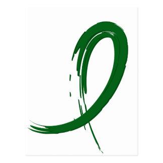 Liver Cancer's Emerald Green Ribbon A4 Postcard