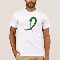 Liver Cancer's Emerald Green Ribbon A4 T-Shirt