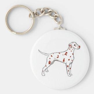 Liver Dalmatian Keychain