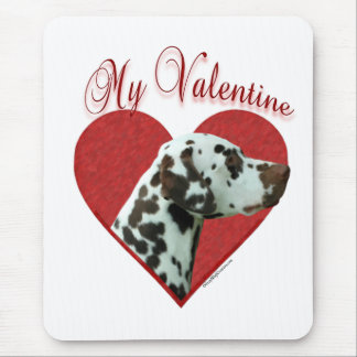 Liver Dalmatian My Valentine Mouse Pad