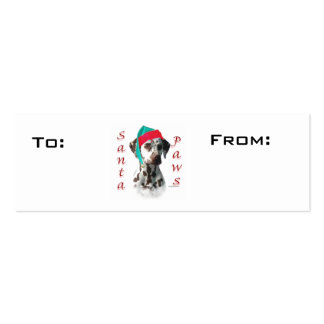 Liver Dalmatian Paws Gift Tags Mini Business Card