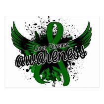 Liver Disease Awareness 16 Postcard