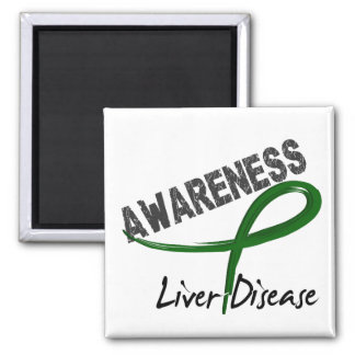 Liver Disease Awareness 3 2 Inch Square Magnet