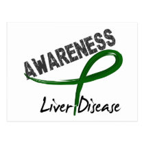 Liver Disease Awareness 3 Postcard