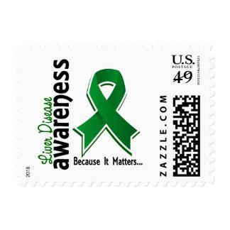 Liver Disease Awareness 5 Postage Stamps