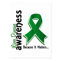 Liver Disease Awareness 5 Postcard