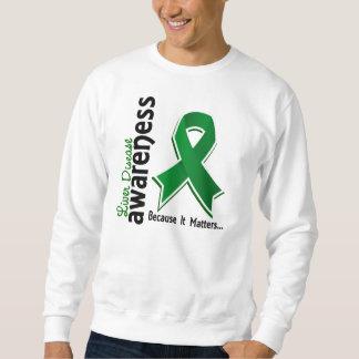 Liver Disease Awareness 5 Pullover Sweatshirt