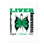 Liver Disease Awareness Butterfly Postcard