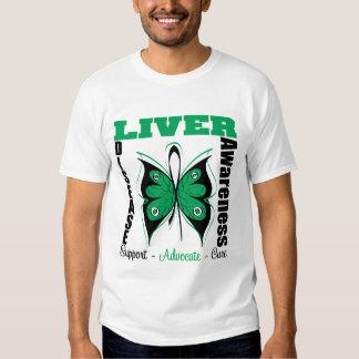 Liver Disease Awareness Butterfly Shirt