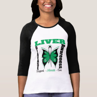 Liver Disease Awareness Butterfly Tee Shirts