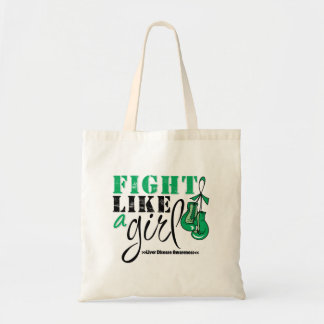 Liver Disease Awareness Fight Like a Girl Canvas Bag