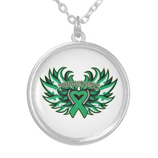 Liver Disease Awareness Heart Wings Custom Jewelry