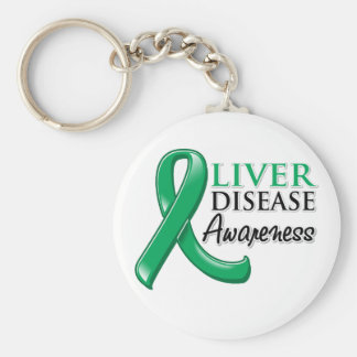 Liver Disease Awareness Ribbon Keychain
