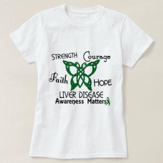 Liver Disease Celtic Butterfly 3 T-Shirt