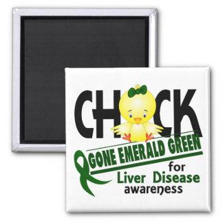 Liver Disease Chick Gone Emerald Green 2 Magnet