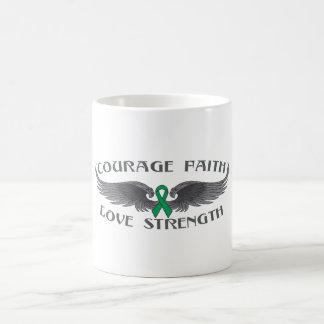 Liver Disease Courage Faith Wings Classic White Coffee Mug