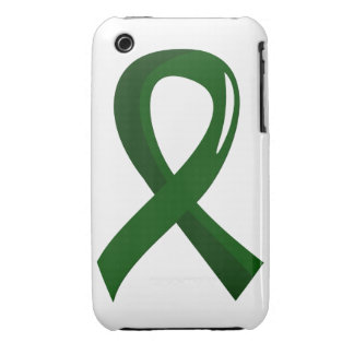 Liver Disease Emerald Green Ribbon 3 Case-Mate iPhone 3 Cases