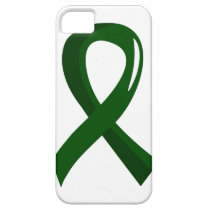 Liver Disease Emerald Green Ribbon 3 iPhone SE/5/5s Case