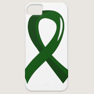 Liver Disease Emerald Green Ribbon 3 iPhone SE/5/5s Case