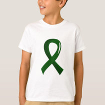 Liver Disease Emerald Green Ribbon 3 T-Shirt