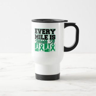 Liver Disease Every Mile is Worth It 15 Oz Stainless Steel Travel Mug