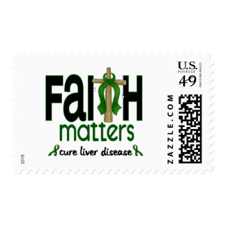 Liver Disease Faith Matters Cross 1 Stamps
