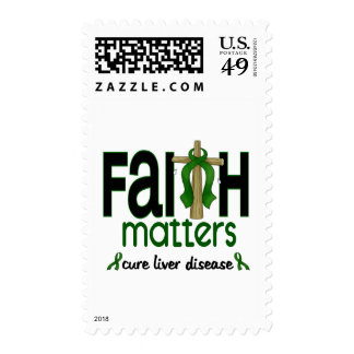 Liver Disease Faith Matters Cross 1 Stamp