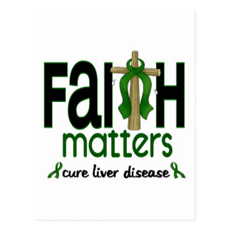 Liver Disease Faith Matters Cross 1 Postcard
